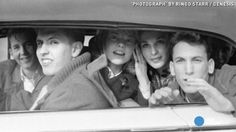 Photograph by Ringo Starr. Ringo took this photo of some fans during the bands first visit to the US in 1964 #Beatles