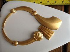 Vintage Monet Modernist Bib Collar Necklace   eBay