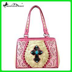 Montana West Spiritual Collection Cross Western Handbag Beige MW273-8036 - Shoulder bags (*Amazon Partner-Link)