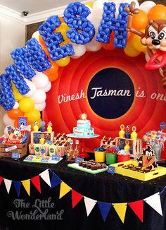 Looney Tunes Tazmanian Devil themed birthday party via Kara's Party Ideas KarasPartyIdeas.com #looneytunestazmaniandevilparty (15)