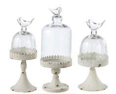 Bird Glass Cloche - The Inglenook Decor would make great terrariums!
