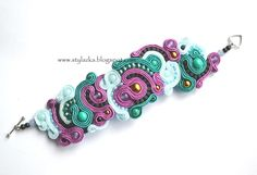 bracelet soutache  von Schmuck Stylazka auf DaWanda.com