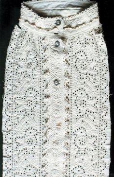 Lyukhímzéssel díszített törökkoppányi férfiing eleje a 19. század második felében Chain Stitch Embroidery, Learn Embroidery, Embroidery Stitches, Embroidery Patterns, Hand Embroidery, Stitch Head, Last Stitch, Braided Line, Hungarian Embroidery