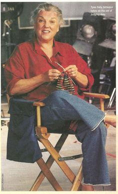 """Tyne Daly on the set of """"Judging Amy"""""""