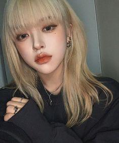 Korean Hairstyles Women, Redhead Hairstyles, Asian Men Hairstyle, Japanese Hairstyles, Asian Hairstyles, Men Hairstyles, Cute Makeup, Makeup Looks, Hair Makeup