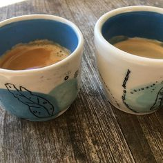 Nice to be home again with the coffee machine. Coffee out of my non-identical-twins leaf cups. Hand thrown and painted. #coffee #cafe #ceramics #ceramica #handmade #australianceramics #northernbeaches #northernbeachesceramics #australianbush #longblack #leaves #waxresist #pottery #amateurceramicistcafe,leaves,northernbeachesceramics,northernbeaches,ceramica,longblack,handmade,amateurceramicist,coffee,ceramics,waxresist,pottery,australianbush,australianceramics