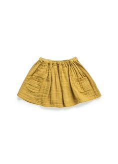 Flared skirt with twin patch pockets on the sides embellished with crochet trimmings and elastic waist. Fashion Kids, Little Girl Fashion, Diy Jupe, Jupe Short, Skater Girls, Kid Styles, Sewing For Kids, Girls Wear, Flare Skirt