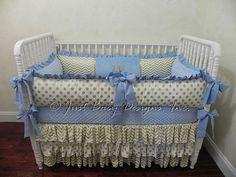 Custom Baby Bedding Set Graham  Boy Baby by BabyBeddingbyJBD