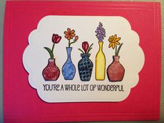 Stampin' Up Vivid Vases thank you card