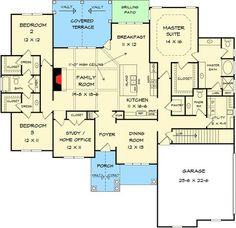 Split Bedroom Craftsman House Plan - 36073DK | 1st Floor Master Suite, CAD Available, Corner Lot, Craftsman, PDF, Photo Gallery, Traditional | Architectural Designs