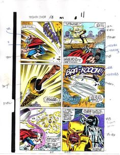 1989 Marvel Comics The Mighty Thor 403 color guide art: 100's MORE IN OUR STORE!