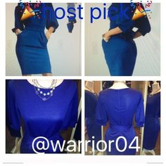 2X HP 5/16/15 & 4/25/16 Half Sleeve Blue Dress Half Sleeve With Belt Slim Blue Dress Half Sleeve With Belt Blue Dress NWOT Size: SMALL Pattern Type: Plain Sleeve length (cm) Small 37 cm Color: Blue Dress Length: Knee Length Style: Fashion Material: Polyester Neckline: Boat Neck Silhouette: Bodycon Shoulder: Small 36 cm Bust: Small 82cm Waist size: Small 70 cm Dresses