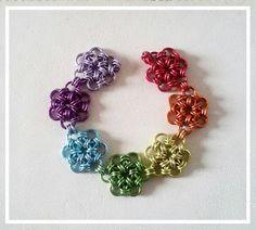 Rainbow Flowers Bracelet