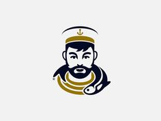 Final Logo designed by Jorge Rico. Connect with them on Dribbble; Logo Inspiration, Sailor Logo, Logo Branding, Branding Design, Logo Luxury, Logos Retro, Logo Face, Learning Logo, Organic Logo
