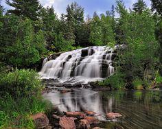 Bond Falls -  Paulding Michigan  (Middle Branch Ontonagon River) by Michigan Nut Photography