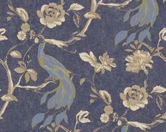 Bird Wallpaper, Blue Bird, Damask, Stripes, Retro, Rugs, Floral, Projects, Design