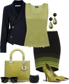 """Neon Stripes for Spring"" by yasminasdream on Polyvore"