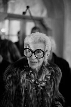 Iris Apfel  Shot for Vogue at Bergdorf Goodman 111th Anniversay at the Plaza Hotel  © Shawn Brackbill  http://www.vogue.com/parties/bergdorf-goodman-celebrates-its-111th-anniversary-at-the-plaza-hotel/