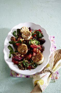 Unser beliebtes Rezept für Winterlicher Salat mit paniertem Ziegenkäse und mehr als 55.000 weitere kostenlose Rezepte auf LECKER.de.