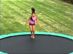 Aero Bounce Trampoline Slightly larger than our Super Bounce model, the 15 foot Aero Bounce gives both you and your youngin's more room to jump, twist, a. Super Bounce, Trampolines, Things That Bounce, Beach Mat, American, Videos, Youtube, Fun, Outdoor