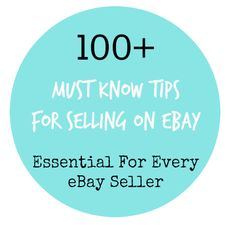 These 100+ must know tips are essential for every eBay seller. Whether you are just starting out or a power seller, these reminders will ensure you outdo your competition, optimise your listings a…