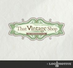Professional Logo Design for Small Business, Customisable Premade Logo - vintage, antique, scroll, ornate, distressed. $40.00, via Etsy.