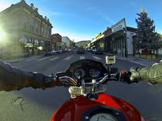 Photo by Jason Moore.  Shot with the GoPro Hero 3 Black.  Jacksonville, Oregon at Christmas time shot on board a 2006 Ducati Monster 620.