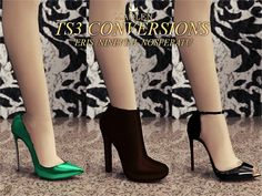 Madlen shoes Nineveh, Nosferatu and Eris conversion - Free Sims 3 Shoes Downloads Madlen Fashion Custom Content Caboodle - Best Sims3 Updates and Finds