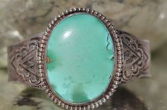 Old Navajo Hand Wrought Sterling Silver Arrows Pale Turquoise Cuff Bracelet   eBay