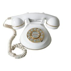 40's/European Style Princess Phone White from Beach Blues - Hunters Alley