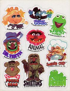 muppets vintage stickers