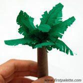 Step 4 Paper palm tree