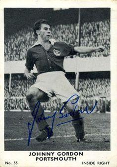 Johnny Gordon of Portsmouth in Portsmouth, 1960s, Soccer, Football, Bike, Gym, Sports, Logo, Awesome