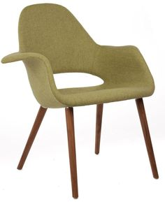 Replica Eames Saarinen Organic Chair Textured Fabric Dining Chairs Nick