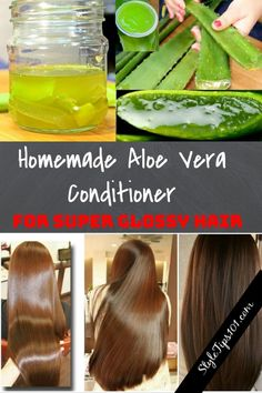 Homemade Aloe Vera Conditioner is part of Natural hair styles - This easy Homemade Aloe Vera Conditioner is certain to bring healing deep into the hair follicles while adding a shine that will make heads turn Beauty Hacks For Teens, Glossy Hair, Shiny Hair, Manicure Y Pedicure, Mouthwash, Belleza Natural, Grow Hair, Diy Hairstyles, Hairstyle Images