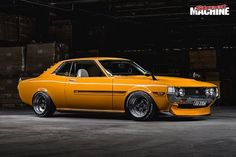 Tony Barker's wild four-pot Toyota Celica is overflowing with old-school cool Toyota Celica, Toyota Cars, Toyota Corolla, Corolla Dx, Classic Japanese Cars, Classic Cars, Vintage Japanese, Corolla Hatchback, Yellow Car