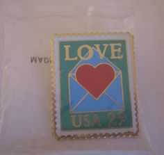 Love 29 Cent Stamp Pin new   Never opened still by vintagehouses