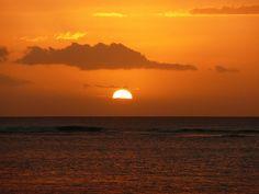 Sunset at Trou aux Biches, Mauritius