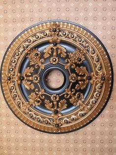 Items similar to 26 inch fan/chandlier ceiling medallion on Etsy Gold Ceiling, Ceiling Trim, Ceiling Rose, Ceiling Tiles, Ceiling Design, Bedroom Pop Design, Painting Ceiling Fans, Classic Ceiling, Tuscan Decorating