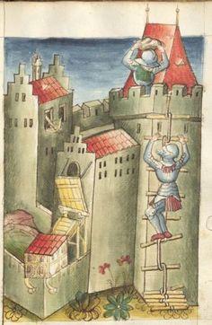 Bellifortis VerfasserKyeser, Conradus  ErschienenElsaß, [um 1460] Ms. germ. qu. 15  Folio 73r