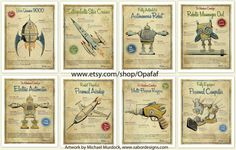 Cute vintage looking space prints.  For purchase on Etsy....oh how I wish these were printables!!  :)
