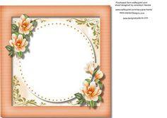 Incert with Orange Magnolias  on Craftsuprint - Add To Basket!
