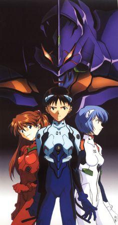 Shinji, Asuka, Rei & Unit 1