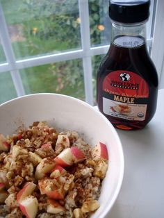 Low Glycemic Sweetener- Agave (Apple maple walnut oats)