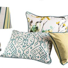 Vibrant colours, customised scatter cushions for spring with Chic Republic Throw Pillows, Vibrant Colors, Colours, Fabric, Tv Room, Cushion Fabric, Hertex Fabrics, Scatter Cushions, Furnishings