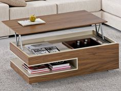 Unique and creative storage space saving ideas for small homes Furniture Design, Functional Furniture, Home, Home Furniture, Space Saving Furniture, Coffee Table Wood, Coffee Table, Convertible Furniture, Multipurpose Furniture