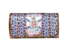 Wallet WANTED Dead OR Alive Cowgirl Tri Bi Fold Pink Rhinestone Leopard Star NEW