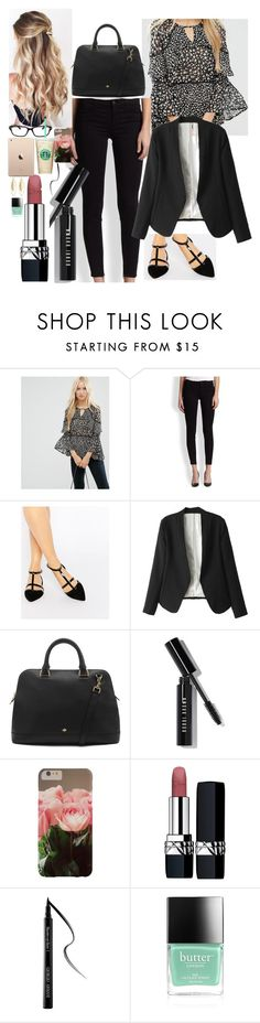 """Untitled #1441"" by inthesun707 ❤ liked on Polyvore featuring ASOS, J Brand, Carvela, Mulberry, Bobbi Brown Cosmetics, Christian Dior, Giorgio Armani, Butter London and Fragments"
