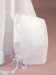 Girls  Crepe Satin Baptism Christening  Bonnet CLOSEOUT CLEARANCE Sale Style 804 #MyFirstWhiteDress #Hat