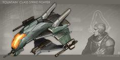 'Fountain'-Class Strike Fighter by MikeDoscher.deviantart.com on @DeviantArt